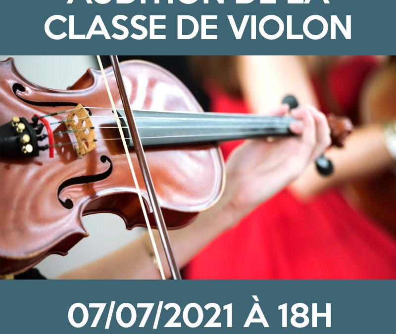 Audition de la classe de violon
